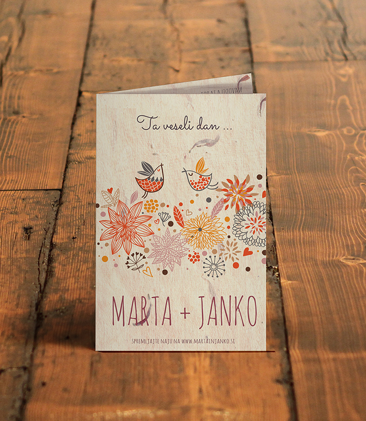 Poročno vabilo - čudovito / Wedding invitation - beautiful
