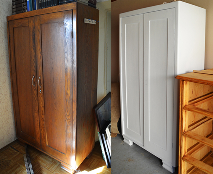 Wooden wardrobe renovation